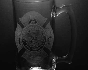 IAFF Irish Logo 25 Ounce Beer Mug