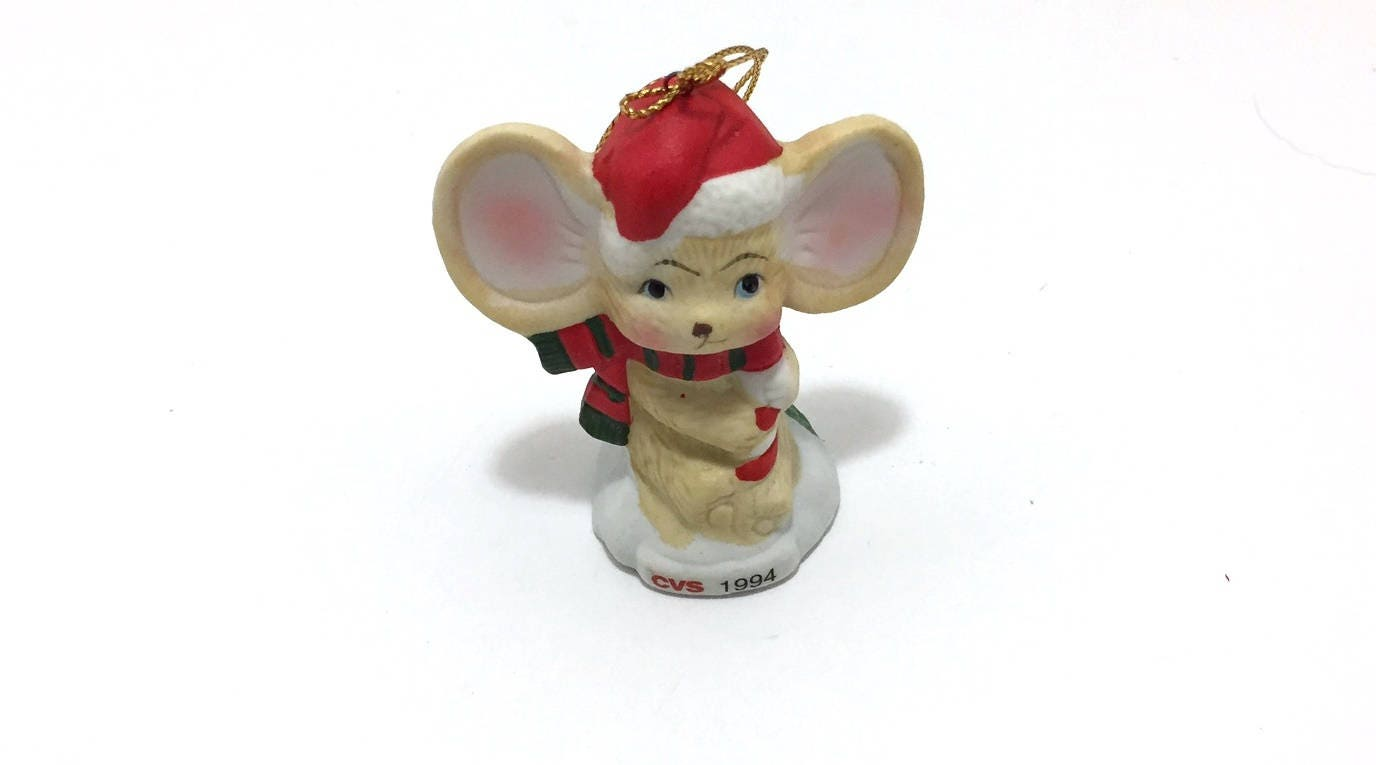 cvs pharmacy traditions ornament for the holidays mouse with
