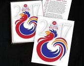 Rooster Cards - A-2 Greeting Cards, New Year's Cards - 6 & 12 Card Sets