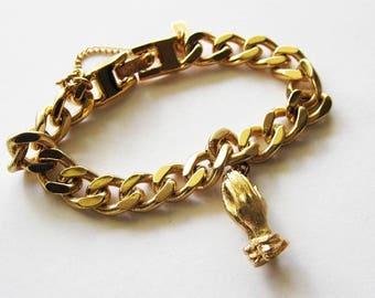Vintage Monet Goldtone  Bracelet
