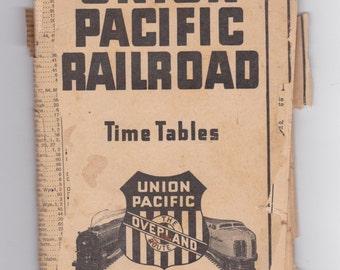 1927 Union Pacific railroad timetable