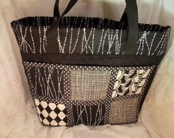 Extra LARGE Tote Bag~Extra Large~Quilted Tote Bag~Multi Pocket Tote Bag~Weekender Bag~Book Bag~Teacher Bag~Overnight Bag~Carry All Bag