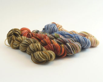 NEW Rise Up Mini Sock Skein Set A - 50g/200yd - 5 Variegated Minis