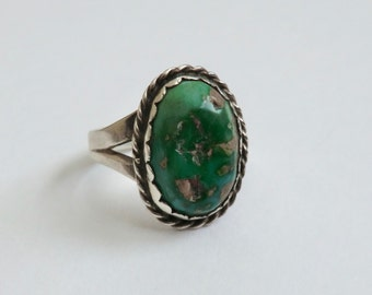 Vintage Sterling Turquoise Ring Southwest Boho Ring