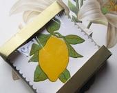 Vintage Paper Coasters * Lemons *   Fruit Motif * Vintage Party Supply * Quality Paper Coasters * Vintage Entertaining * Vintage Hostess *