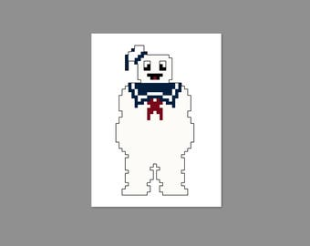 Stay Puft Pixel People Character Cross Stitch PDF PATTERN ONLY