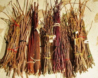 Wood Twig Bundles, Sacred Wood Ritual Supply, Wiccan Druid Pagan Magical Tools and Spells, Beltane Ritual Wood, Incense Smudge, Craft Supply