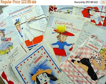 ONSALE Bundle of Antique Love Letters Lot WWII 1940s