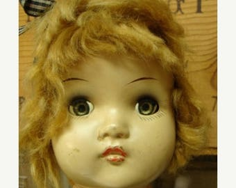 ONSALE Antique Huge and Gorgeous  Composition Antique Doll head