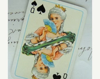 ONSALE Antique French Collector Playing Card
