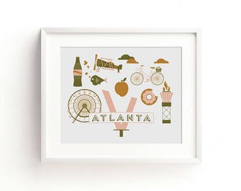 Atlanta Letterpress Art Print