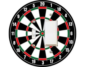 Darts Dartboard Toggle and Decora Rocker Switch Plate Cover