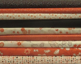 Black Red Table for Two Fabric Bundle - Half Yard - Sandy Gervais - Moda