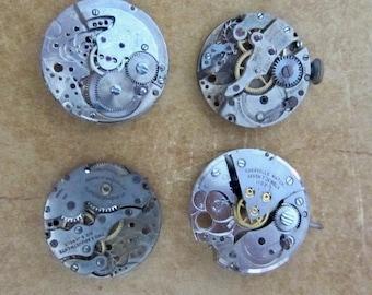 Featured - Steampunk supplies - Watch movement parts - Vintage Antique Watch parts Steampunk - Scrapbooking d18