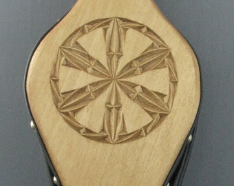 Fireplace Bellows--Chip Carved Rosette #3
