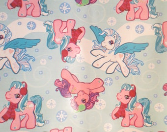 Vtg My Little Pony Wrapping paper 8 feet LONG Continuous piece of wrapping paper