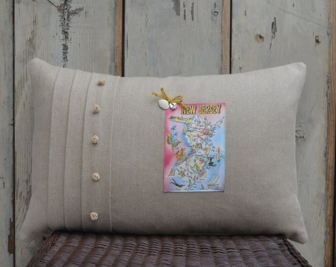 New Jersey Postcard Pillow  (available in 3 styles)