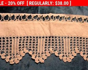 Lovely Antique Lace Edwardian Crochet Cotton Linen Bridal Trim
