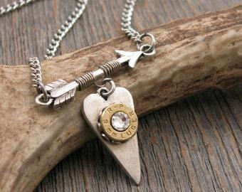 Follow Your Arrow Bullet Design - Bullet Jewelry - Valentine Gift - Arrow Necklace - SureShot™ Jewelry Original Design