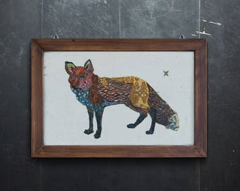 Fox Limited Edition Animal Print // Forrest Home Decor // Fox Say // psychedelic // mountain