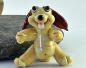 JUMPIN' Jack the Bouncy Puppy - Whimsy Bead - Glass Dog - Glass Puppy Bead - SRA