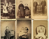 Civil War Era CDV's of Children -- 1860's and 1870's PHOTOGRAPHS  -- Revenue Stamps -- Identified