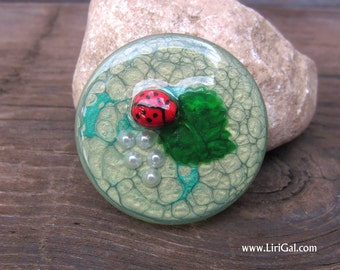 Spring Crystal Resin Round Cabochon Cab 38mm(C28)