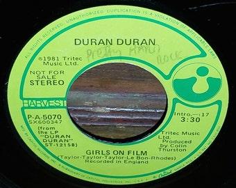 Duran Duran Girls On Film Maxi Single Vintage 45 RPM Record