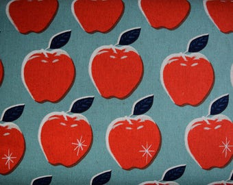 SALE Picnic Apples Cotton and Linen Fabric from Melody Miller for Cotton & Steel sold in 1/2 yard increments