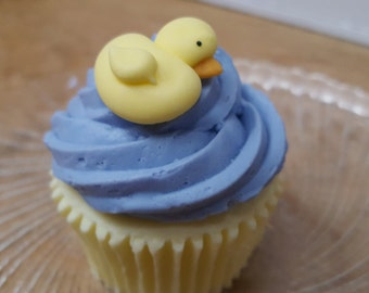 Rubber Ducky Cupcake Soap - Baby Shower Favor Set of 10 - Cupcake - Dessert Soap - Novelty  - Custom Soap - Vegan - Duck Soap - Party Favors