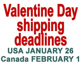 VALENTINE DAY Shipping Deadlines, Anatomical Heart art print wall decor poster 8x10 inches