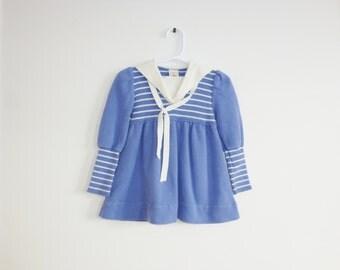 Vintage Toddler Girl's Nautical Dress