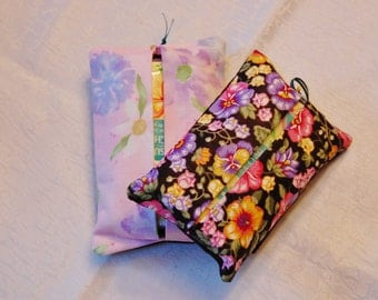 Floral Matching Tissue Totes
