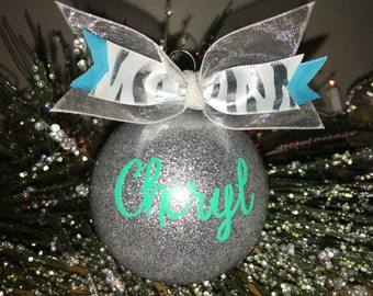Personalized Christmas Ornament - Choose Your Colors