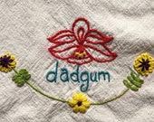 Dadgum! What a fun dish towel!