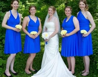 USA, Blue convertibvle dress, infinity dress, bridsmaids dresses