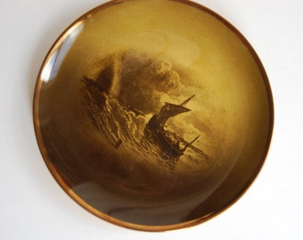 Royal Vistas Wear Plate, Ridways, England, Ship at Sea