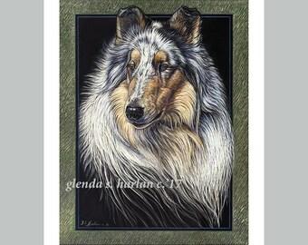Rough Collie Fine Art 8x10 Print