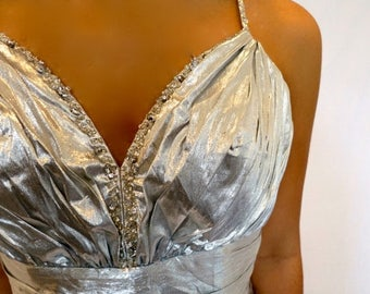 35% OFF SPRING SALE The Platinum Silver Prom Dress