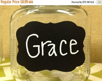 Holiday SALE- 12 Chalk Labels® Grace Style Chalkboard Labels, Chalkboard Stickers, Mason Jar Labels