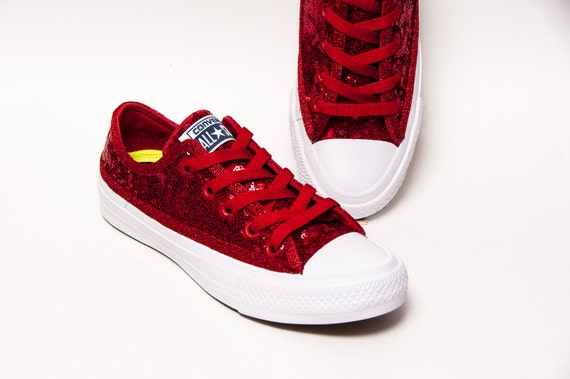 Red Sequin Converse Shoes Us Size