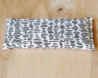 Lavender Eye Bag, Bold Black & White Geometric, Stress Relief Aromatherapy Pillow
