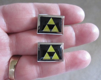 Zelda Tri Force Cufflinks Cuff Links