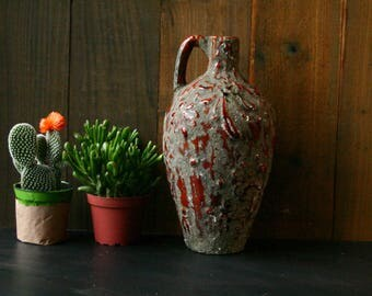 Fine Art Ceramic Jug Lava Valcano Glaze Studio Pottery Fine Art Likely German Antiques From Nowvintage on Etsy