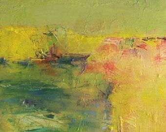 Small Box Painting 1168 - Original Oil Painting - 22.7 cm x 22.7 cm (app. 8.9 inch x 8.9 inch)