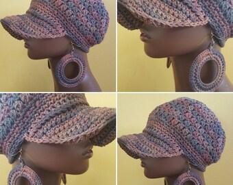 Terra Sol Divine Being Crochet Cotton Cap and Earrings