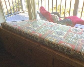 custom trapezoid window seat cushion with high density foam custom cushion trapezoid window seat