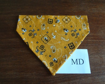 Missouri Tigers- dog bandana- over the collar- medium