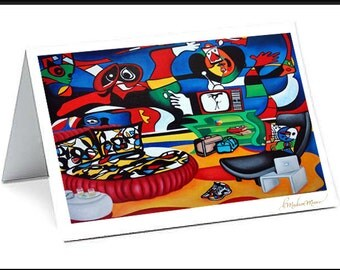 Cards, Art cards, Blank Greeting cards, Fine Art Cards, Miro Artwork, can Miro