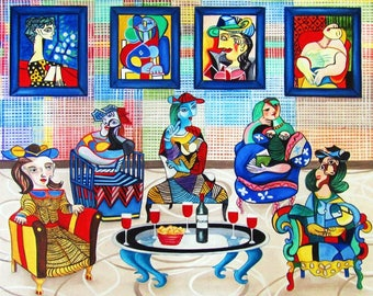 Oil Painting, Picasso Painting, Chair Paintings, Chairs, Oil Painting, Pablo  Picasso, Picasso, Handmade Art